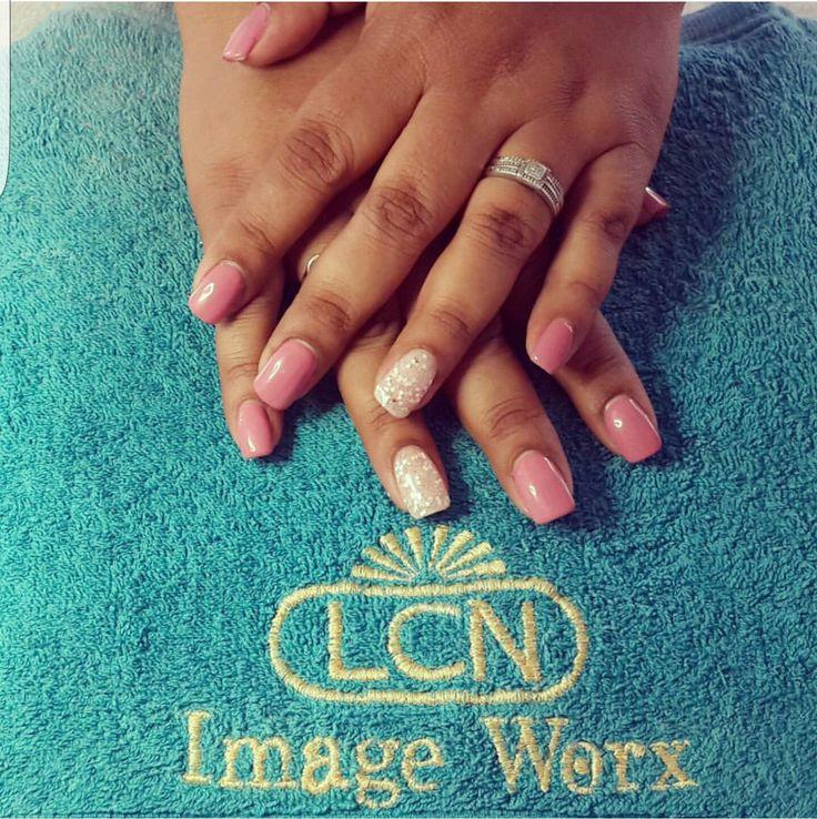 Pink Seducer with Diamond Tiara #LovingitLCN #lcn #mynails