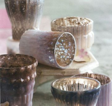 Mercury Tealight Holders Set in Lilly  candles and candle holders