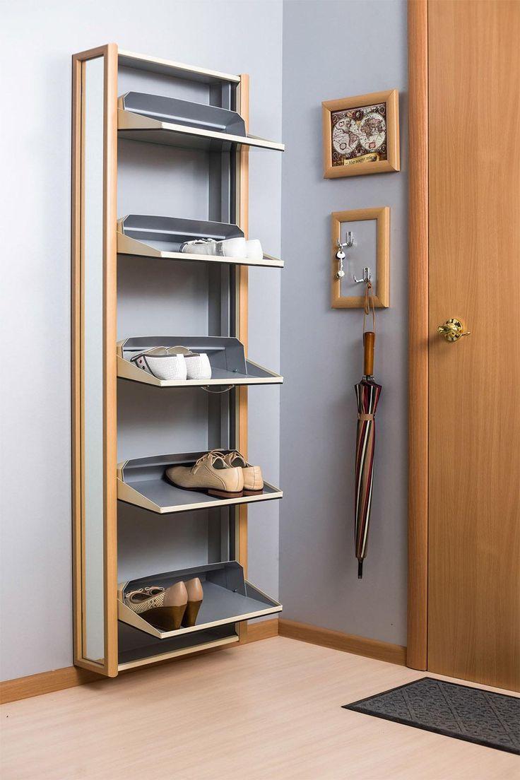 Обувной шкаф Айрон Комфорт с зеркалом