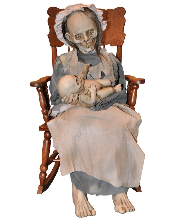 can you hear that creepy lullaby on halloween night this animatronics halloween decoration is a ghostly mom and child that rocks back and forth softly