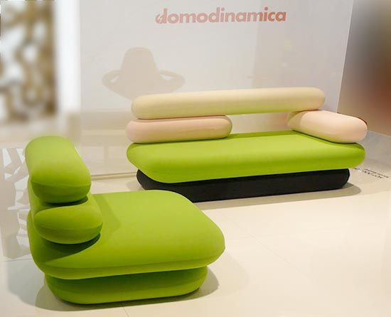 Hot Dog sofa by Karim Rashid for Domodinamica