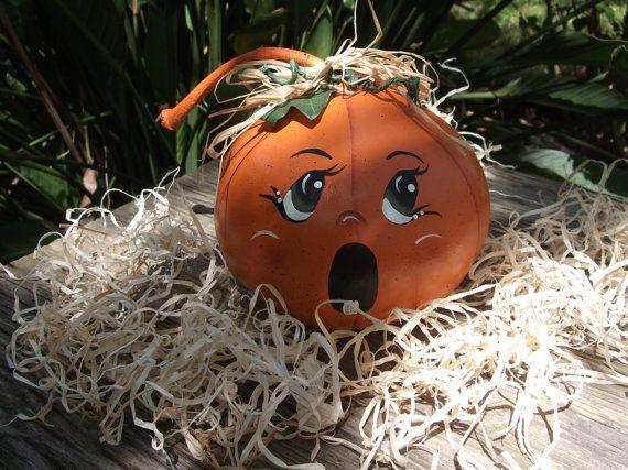 Halloween Painted Gourd Jack O Lanterns Pumpkins by NatsKreations, $12.95