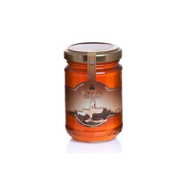 Toplou Honey, is a great combination of ingredients such as Thyme and a variety of aromatic plants with splendid aroma and fine taste.