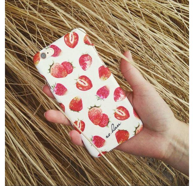 iPhone Case - STRAWBERRIES CASE - ZO-HAN - Etui na telefon