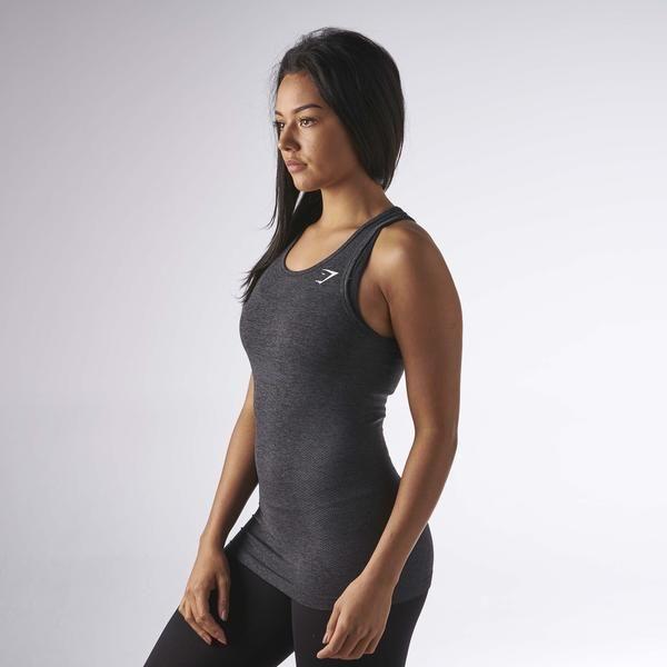 Gymshark Seamless Vest - Black Marl