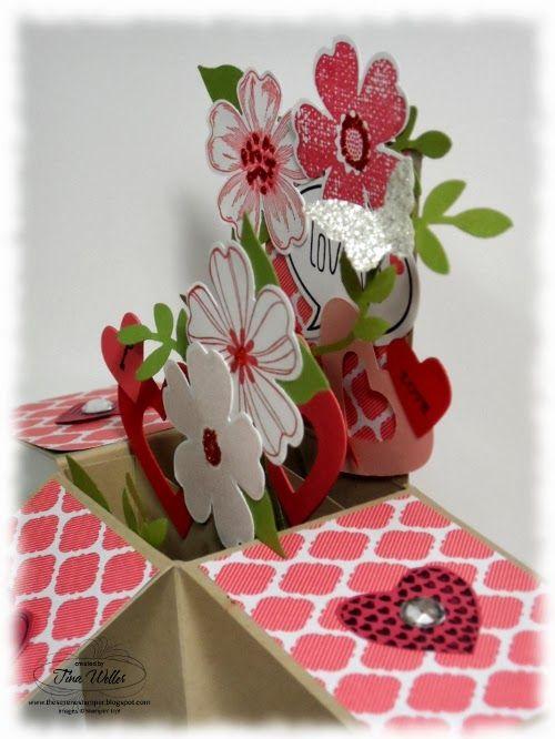 The Serene Stamper: Card in a Box Valentine