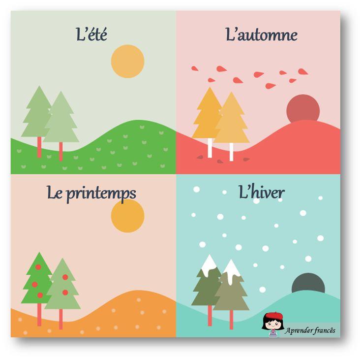 Les saisons #FLE #vocabulary #seasons