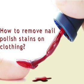 Check the care labels on the clothing that has nail polish on it – if it's a natural fibre, such as cotton or linen, then removing nail polish stains is simple! Place an ice pack on the stain to harden it. Working with wet polish will just encourage smudging and even more staining.
