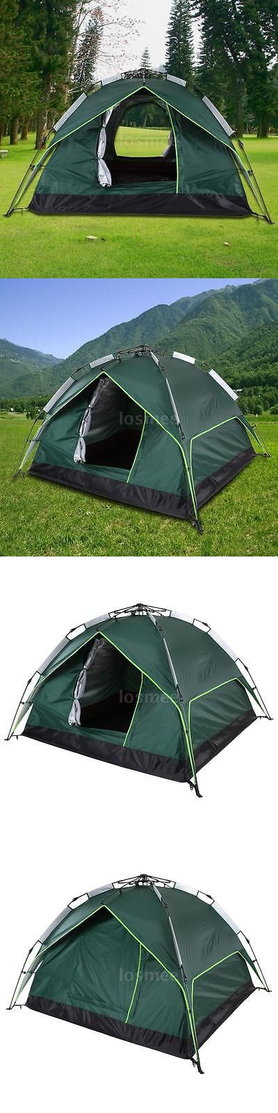 Tents 179010: Waterproof 3-4 People Automatic Instant Pop Up Family Tent Camping Tent -> BUY IT NOW ONLY: $39.99 on eBay!