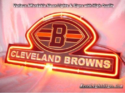 NFL Cleveland Browns 3D Neon Sign Beer Bar Light