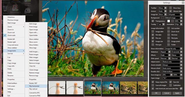 - Aπό τα καλύτερα δωρεάν προγράμματα προβολής εικόνων εφοδιασμένο με τις βασικές δυνατότητες επεξεργασίας και μετατροπής εικόνων με θαυμάσια εμφάνιση και προπαντός πολύ χρηστικό. Ανοίξτε μία φωτογραφία και θα δείτε να εμφανίζεται στο κάτω μέρος του παραθύρου ένας κατάλογος με όλες τις εικόνες που βρίσκονται στον φάκελο που βρίσκεται η φωτογραφία σας. Το όνομα της τρέχουσας εικόνας και η γραμμή εργαλείων φαίνονται στο επάνω μέρος του παραθύρου.  - Χρησιμοποιήστε τη γραμμή εργαλείων για να…