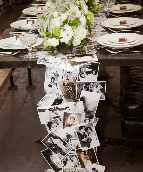 Twist on Table number - Place photo of famous couple in frame and add the table number