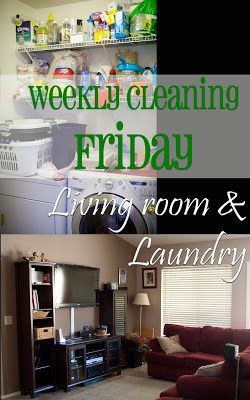 Ugh..Laundry! My least favorite part of the weekly cleaning schedule. Here are some tips to make your weekly cleaning a little more efficient.