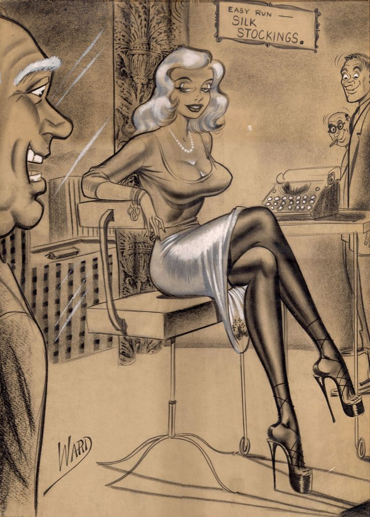Bill Ward Easy Run Stockings Comic Art
