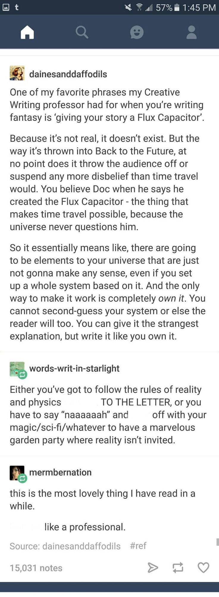 And the only way to make it work is completely own it. You cannot second-guess your system or else the reader will too. You can give it the strangest explanation, but write it like you own it.