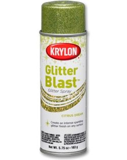 Glitter Blast™ - | Krylon... I probably shouldn't have found this stuff.. I'm addicted to glitter and I found glitter spray paint.. perfect for doing a glitter wall without using wallpaper.. apparently it lasts and if it fades you can just touch it up!