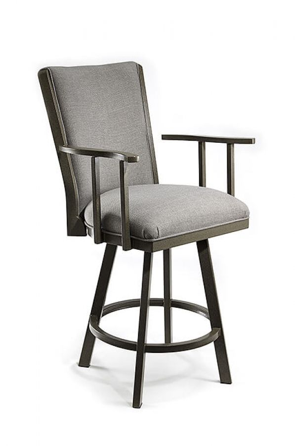 Swivel Stool Bar Stools With Backs, Upholstered Swivel Bar Stools With Arms