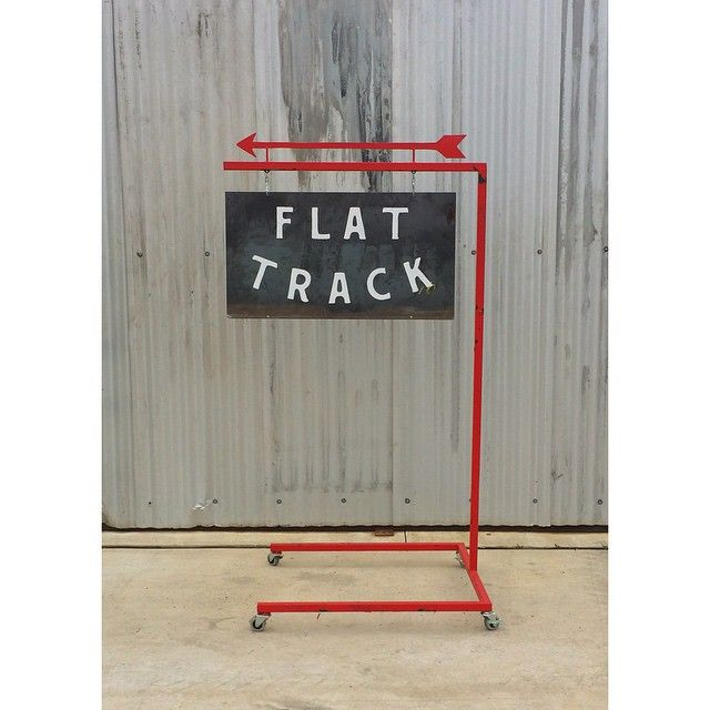 This way to Flat Track Coffee.