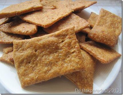 Zuurdesem Pesto Crackers ( andere bloem gebruiken)