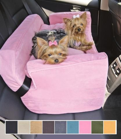 Dog Car Seat Microsuede - Large