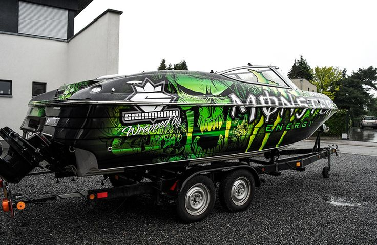 Monster Boatwrapping #signmania #monster #boatwrapping #boats #boatwrap #wrapping #boat #design - www.signmania.com