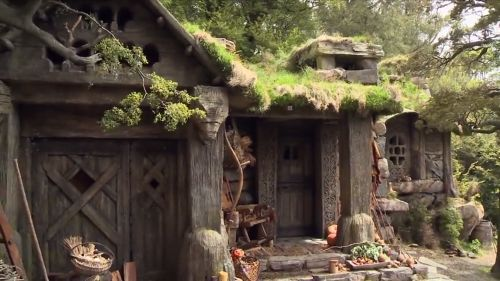 Beorn's house. I love it as an entry way. Garage on the left and possible master bedroom porch on the right??