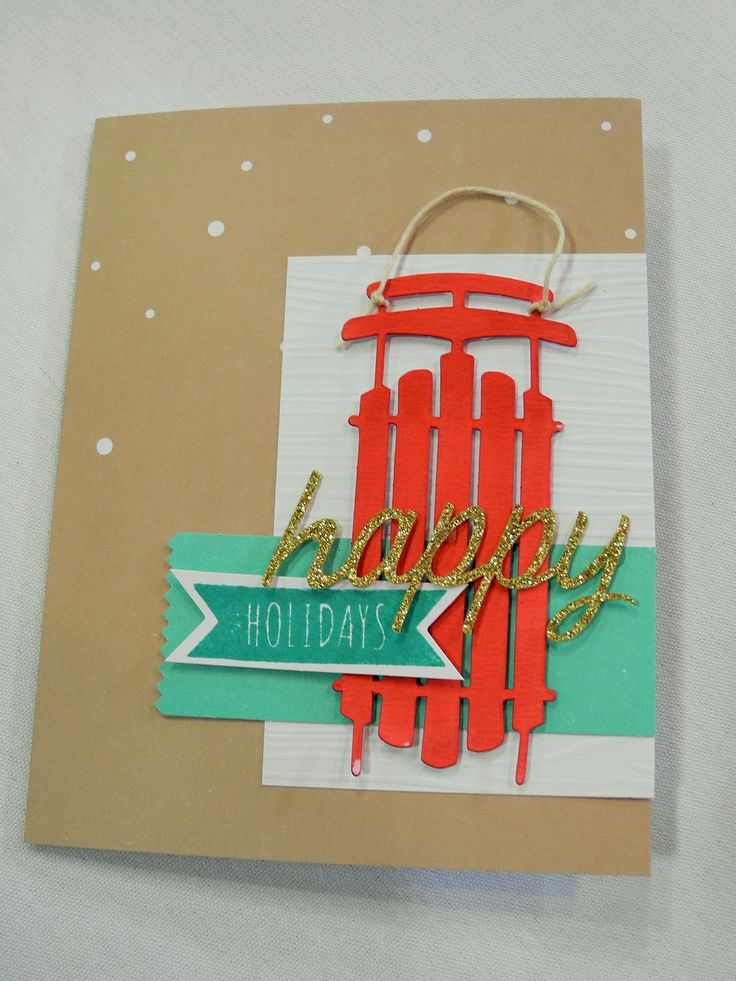 Stampin' Up! demonstrator Dawn O's project showing a fun alternate use for the Watercolor Winter Simply Created Card Kit.