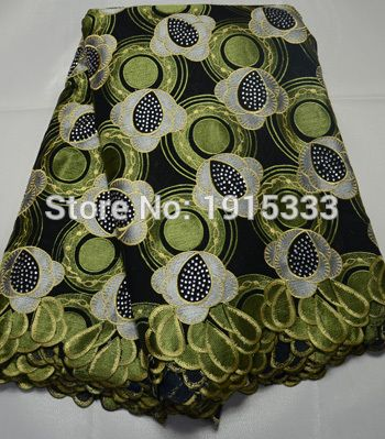 重い大きなデザインの刺繍アフリカのスイスボイル綿レース高品質で石のためのウェディングドレス、5ヤード/ロット、BPA131 (1) 50.51