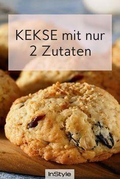 Für diese gesunden Kekse braucht man nur zwei Zutaten und sie sind super einfach. …   – Kekse