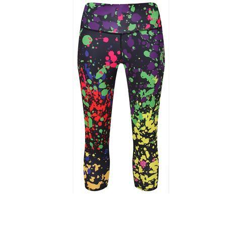 Tikiboo Neon Paint Splatter Capri #Activewear #Gymwear #FitnessLeggings #Leggings #Tikiboo #Running #Yoga