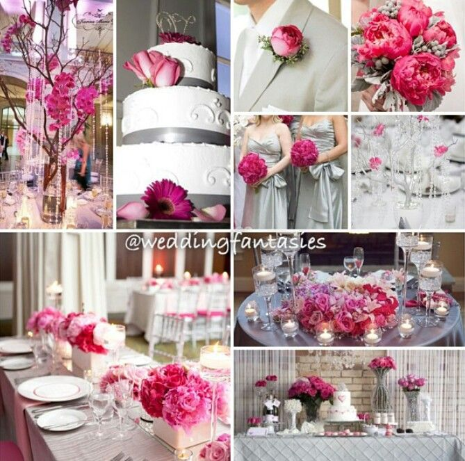 Pink Silver And White Wedding Decor Unique Wedding Ideas