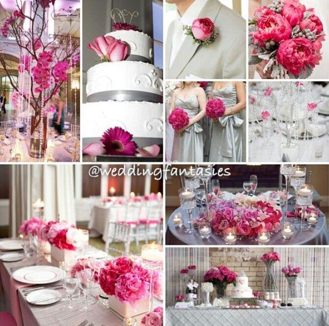 Grey And Pink Wedding Theme Images - Wedding Decoration Ideas