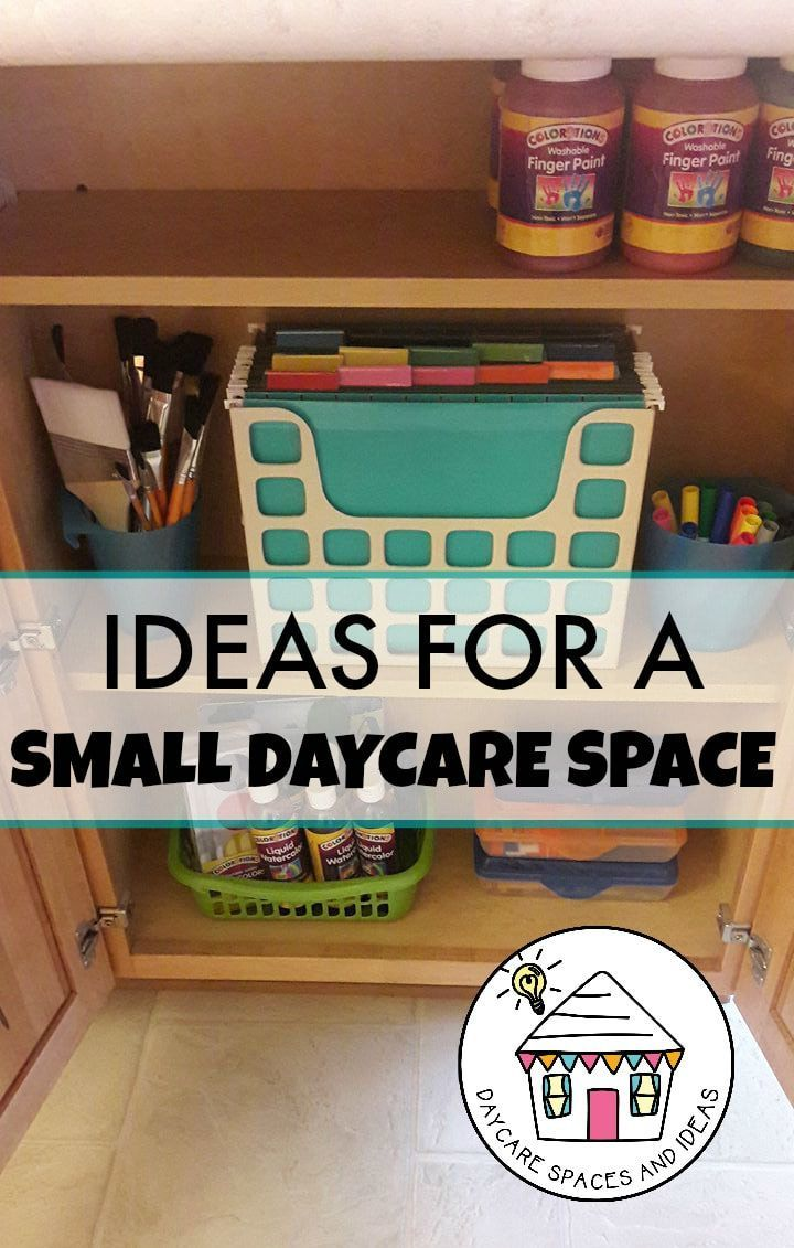 Create learning centers in a small daycare space Daycare