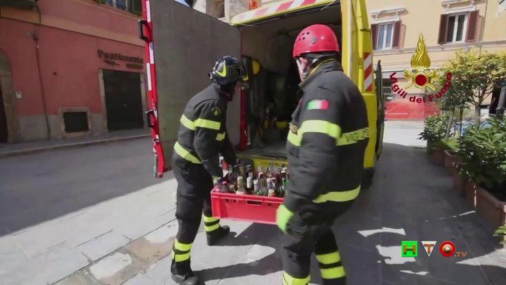 Vigili del Fuoco - Norcia - Recupero beni da locale pubblico - www.HTO.tv