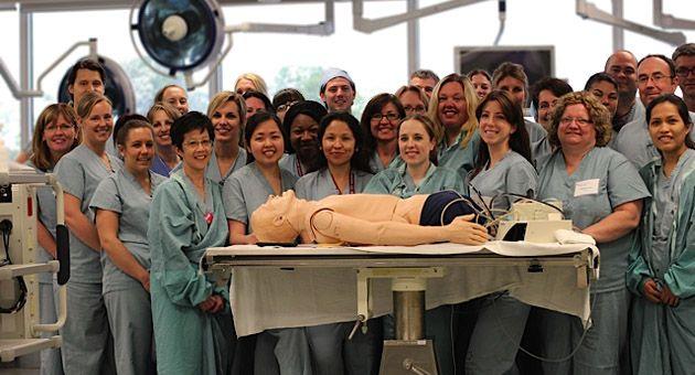 24 nurses who practiced emergency scenarios