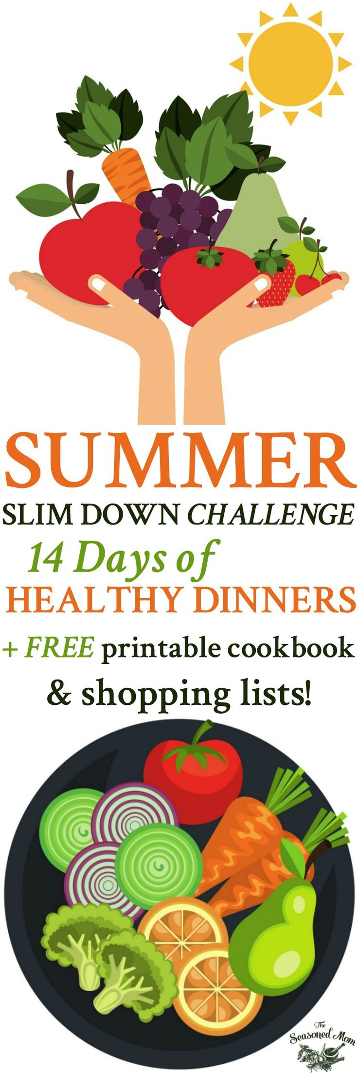 Summer Slim Down Challenge: 14 Days of Healthy Dinner Recipes | Meal Plan | Meal Planning Printable | Meal Plan for Weight loss | Dinner Ideas | Dinner Recipes Easy