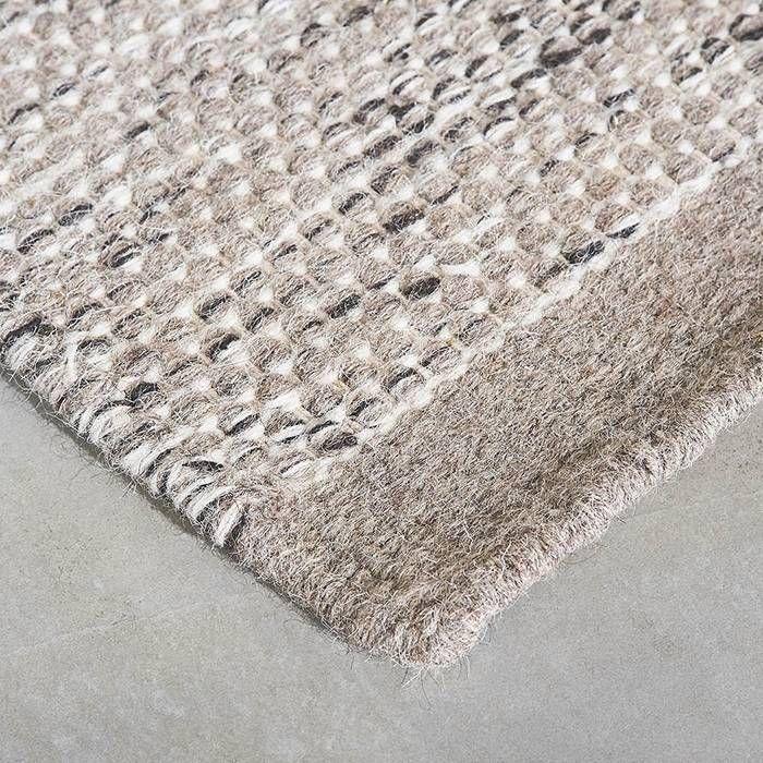 Vloerkleed wol Teppe Grijs/wit
