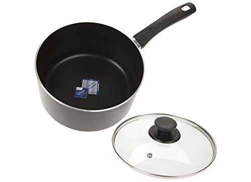 Solo 20cm Non-stick Saucepan with glass lid, Teflon inside & out, Italian design handle, dishwasher safe, for use on gas & electric hobs, ceramic & halogen. £12.89 buy now https://cookers-for-sale.com/cookers-listing/solo-20cm-teflon-non-stick-sauce-pan-with-glass-lid-2/
