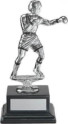 #Boxing trophies #silver boxing #figure on black base award 6 inch free engraving,  View more on the LINK: http://www.zeppy.io/product/gb/2/280644694887/