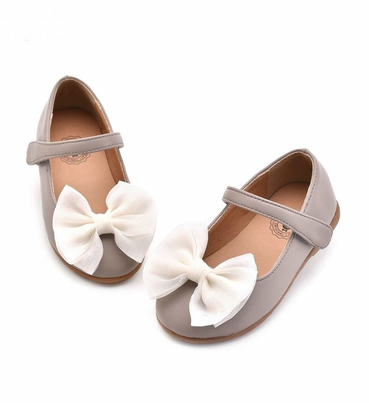 Butterfly Shoes-High Quality, Comfort & Soft! Beautiful Butterfly Bow Knot Applique Infant Toddler Little & Big Girl Strap Flat Round Toe Wedding Birthday Mary Jane Shoes. Material: Synthetic Leather & Rubber. Color: Pink & Spalding Gray. Please choose  your little girl size by Insole length.