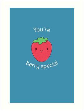 Cute and Kawaii Strawberry Pun