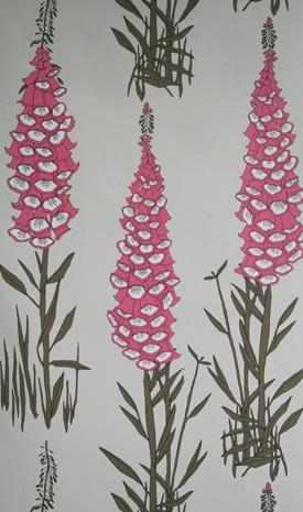 Close-up on that pink foxglove at Furbish Design Studio...  love it!