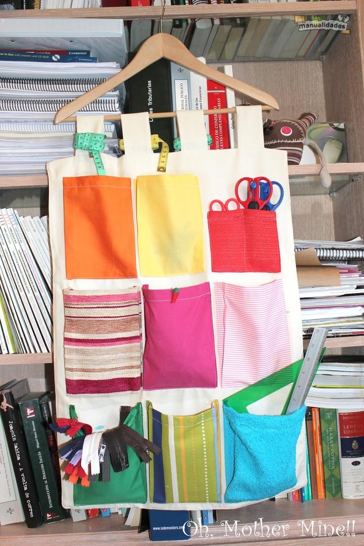 Oh, Mother Mine!!: Tapiz organizador portátil con bolsillos, para guardar…