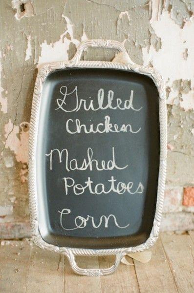 Think outside the tray! Chalkboard #diy.