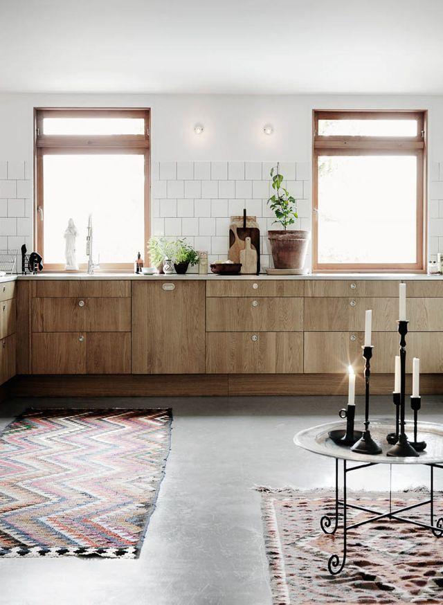 Wooden kitchen cabinets and concrete floor | Decordots | Bloglovin'
