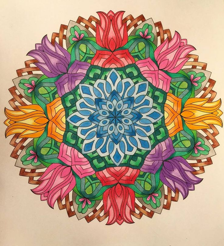 ❤⊰❁⊱ Mandala ⊰❁⊱ ColorIt Mandalas to Color Volume 1 Colorist: Josie Dark #adultcoloring #coloringforadults #mandalas #mandala #coloringpages