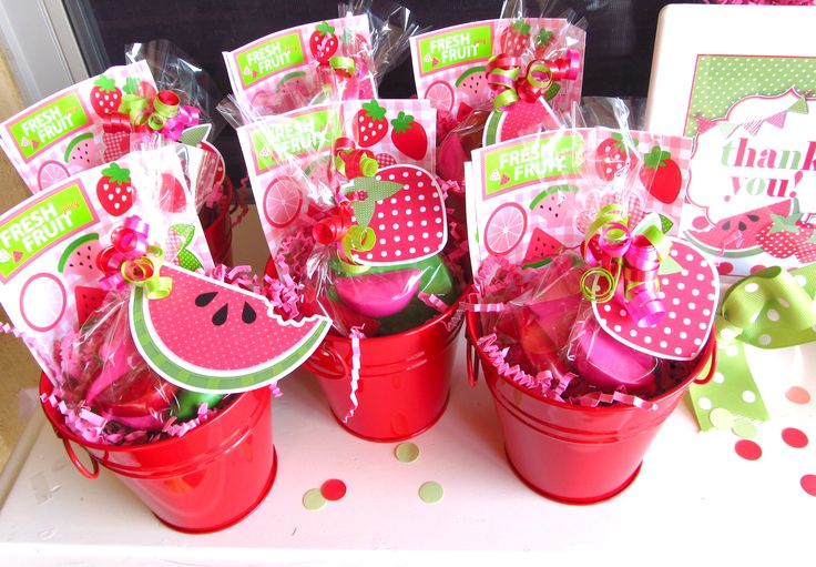 Give guests fun watermelon favors to take home!   via whimsicallydetailed.com