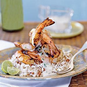 Refreshing Key lime juice heightens the flavor of #delicious Grilled Shrimp.