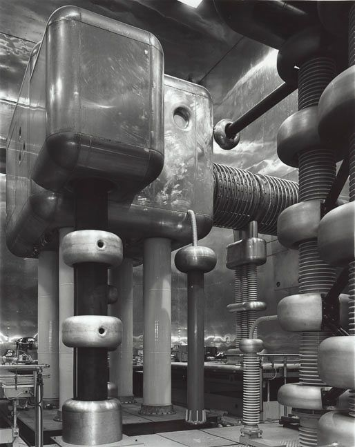 rhea137:  Smashing Places Ina new book calledTime Machines,photographer Stanley Greenberg looks at the machinery of high-energy physics through stark black and white photography. Is this the future? (via SciArts)