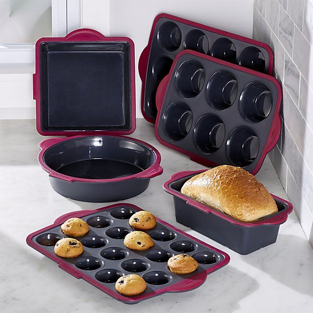 """This Trudeau 6-piece silicone bakeware set will come in handy when it's time for a baking extravaganza in your kitchen.  Better Homes & Gardens receives a commission for purchases made through the link on this page."""